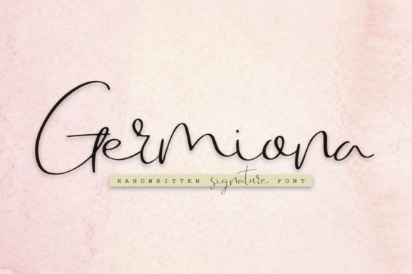 Print on Demand: Germiona Script & Handwritten Font By Katie Holland