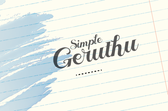 Geruthu Font By Grontype Image 1