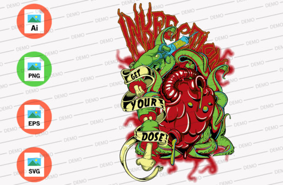 Get Your Dose Graphic Illustrations By Skull and Rose