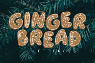 Gingerbread Letters Graphic By Reg Silva Art Shop