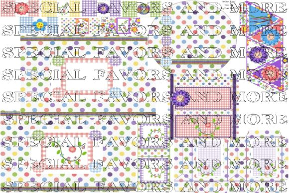 Gingham Giggles Candy Wrappers Set Graphic Crafts By BUBBABUG
