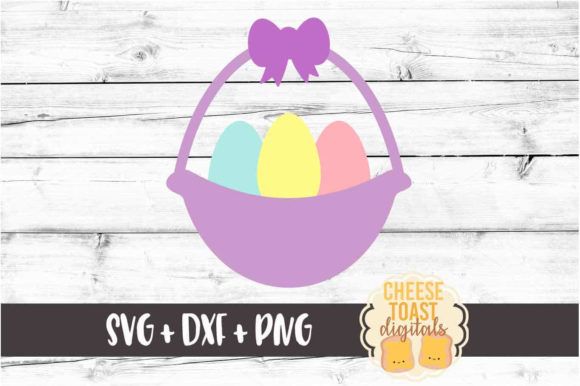 Download Free Girl S Easter Egg Basket Graphic By Cheesetoastdigitals for Cricut Explore, Silhouette and other cutting machines.