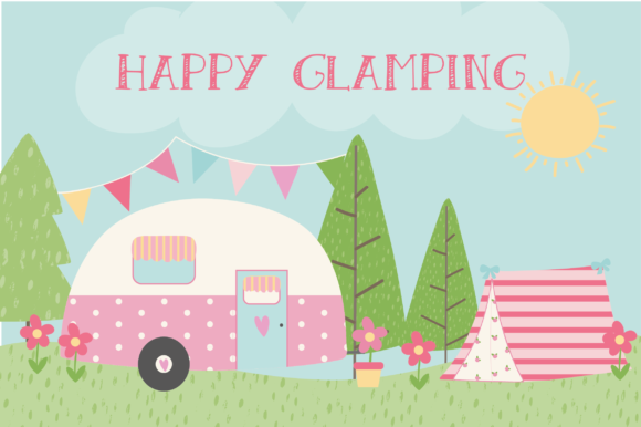 Download Free Glamping Clipart Graphic By Poppymoondesign Creative Fabrica for Cricut Explore, Silhouette and other cutting machines.