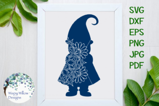 Download Free Gnome Mandala Zentangle Svg Graphic By Wispywillowdesigns for Cricut Explore, Silhouette and other cutting machines.