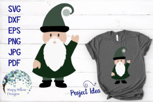 Gnome SVG Clipart Graphic By WispyWillowDesigns