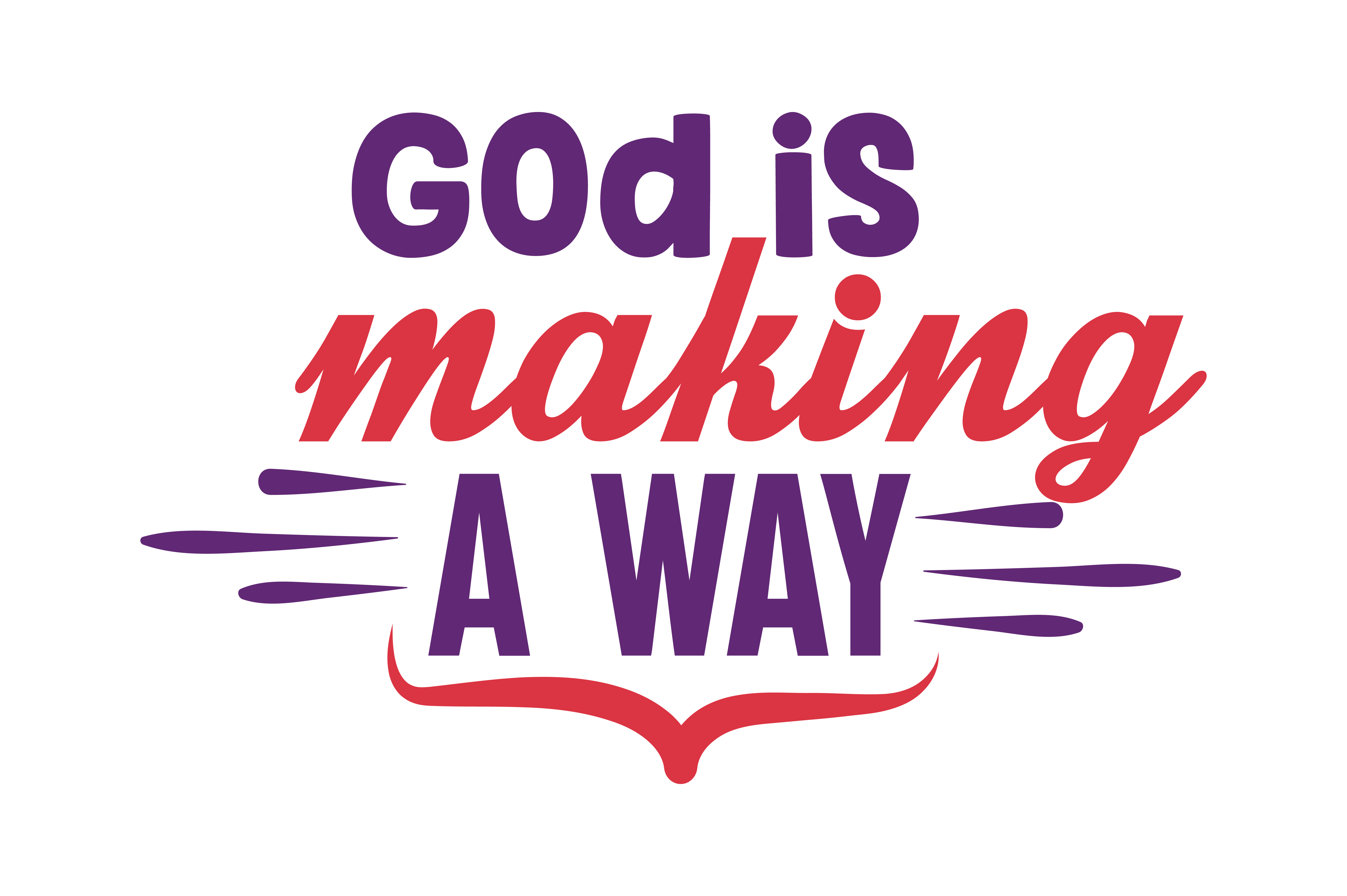 Download Free God Is Making A Way Quote Svg Cut Graphic By Thelucky Creative for Cricut Explore, Silhouette and other cutting machines.