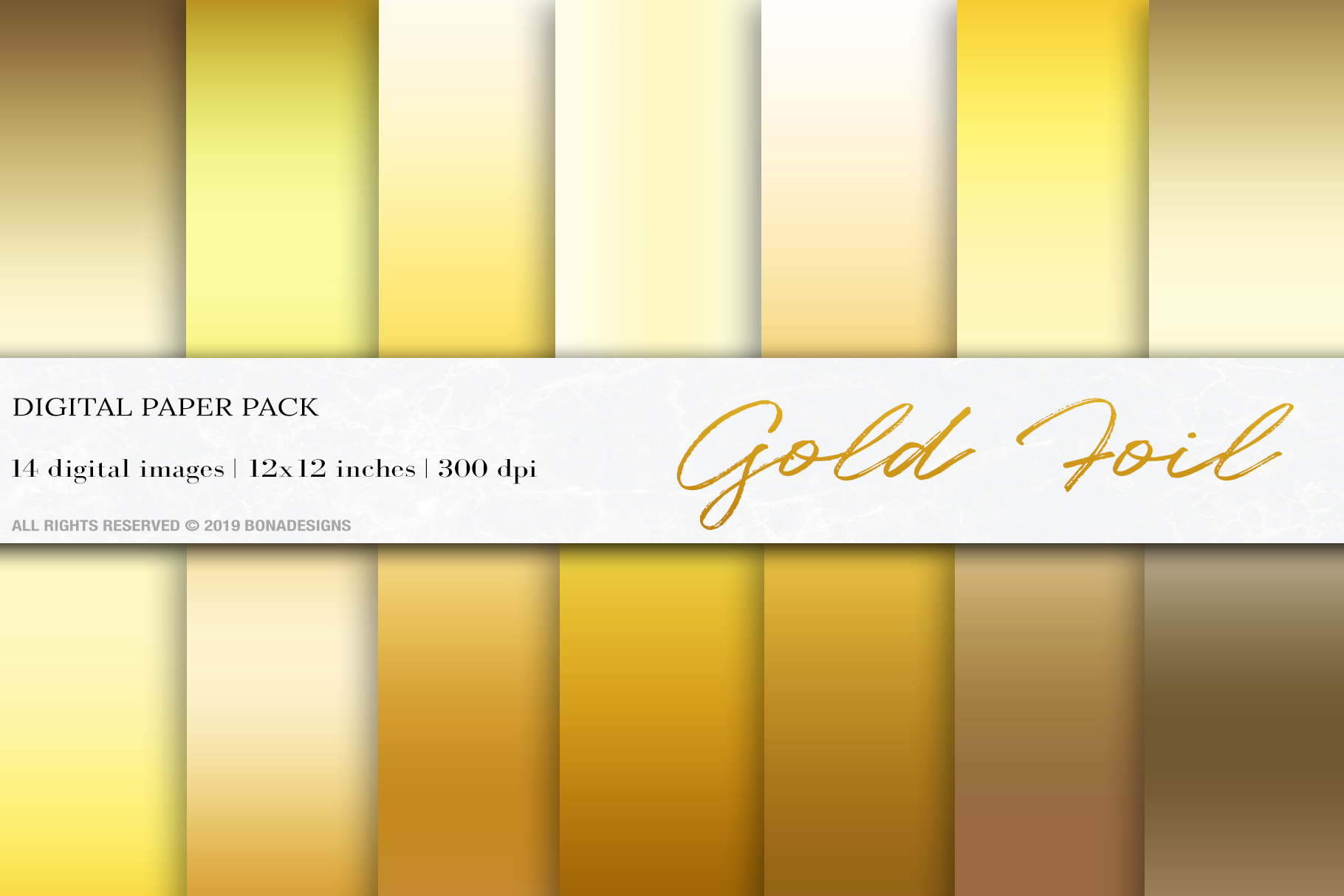 Download Free Gold Foil Digital Papers Graphic By Bonadesigns Creative Fabrica for Cricut Explore, Silhouette and other cutting machines.