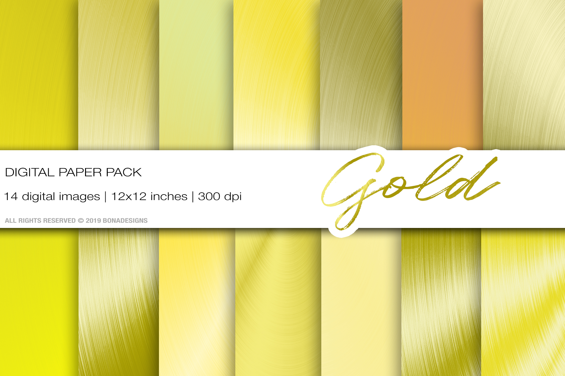 Download Free Gold Metallic Digital Paper Graphic By Bonadesigns Creative for Cricut Explore, Silhouette and other cutting machines.