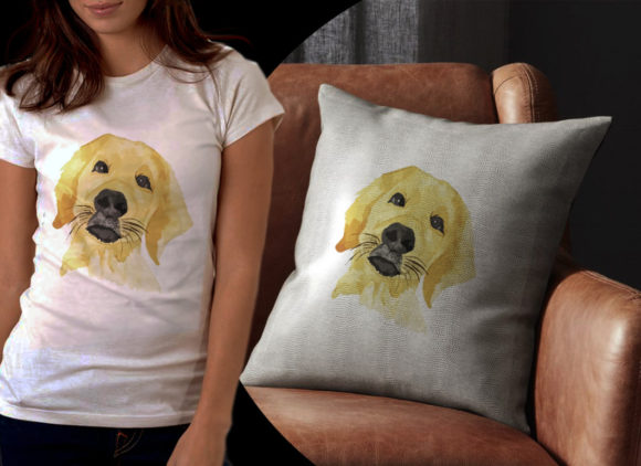 Golden Terrier Dog Graphic Illustrations By Ambar Art - Image 2