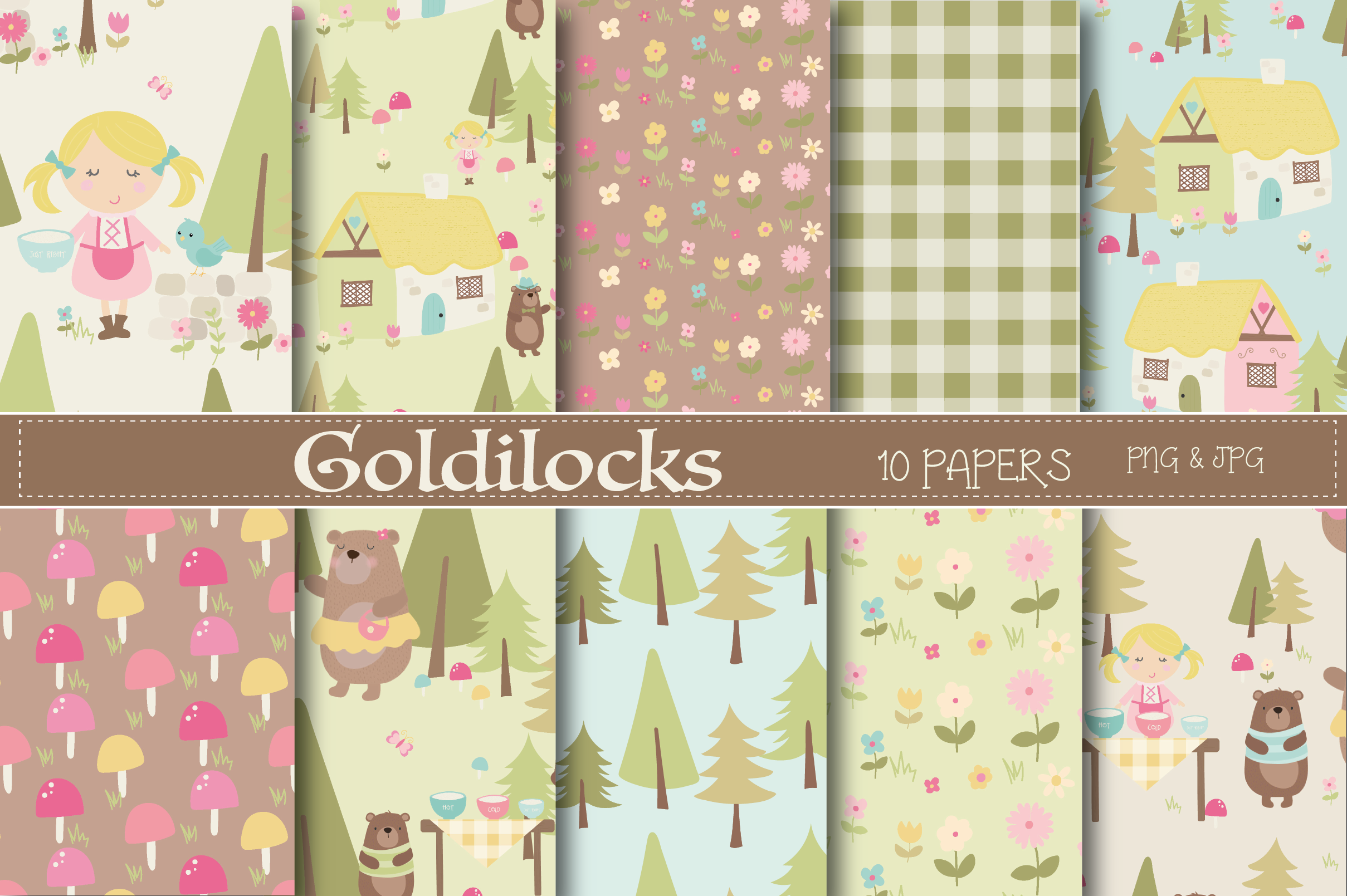 Download Free Goldilocks Paper Graphic By Poppymoondesign Creative Fabrica for Cricut Explore, Silhouette and other cutting machines.