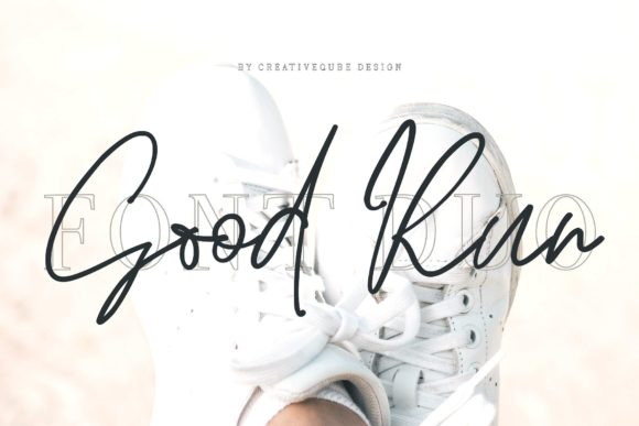 Good Run Duo Script & Handwritten Font By Creativeqube Design