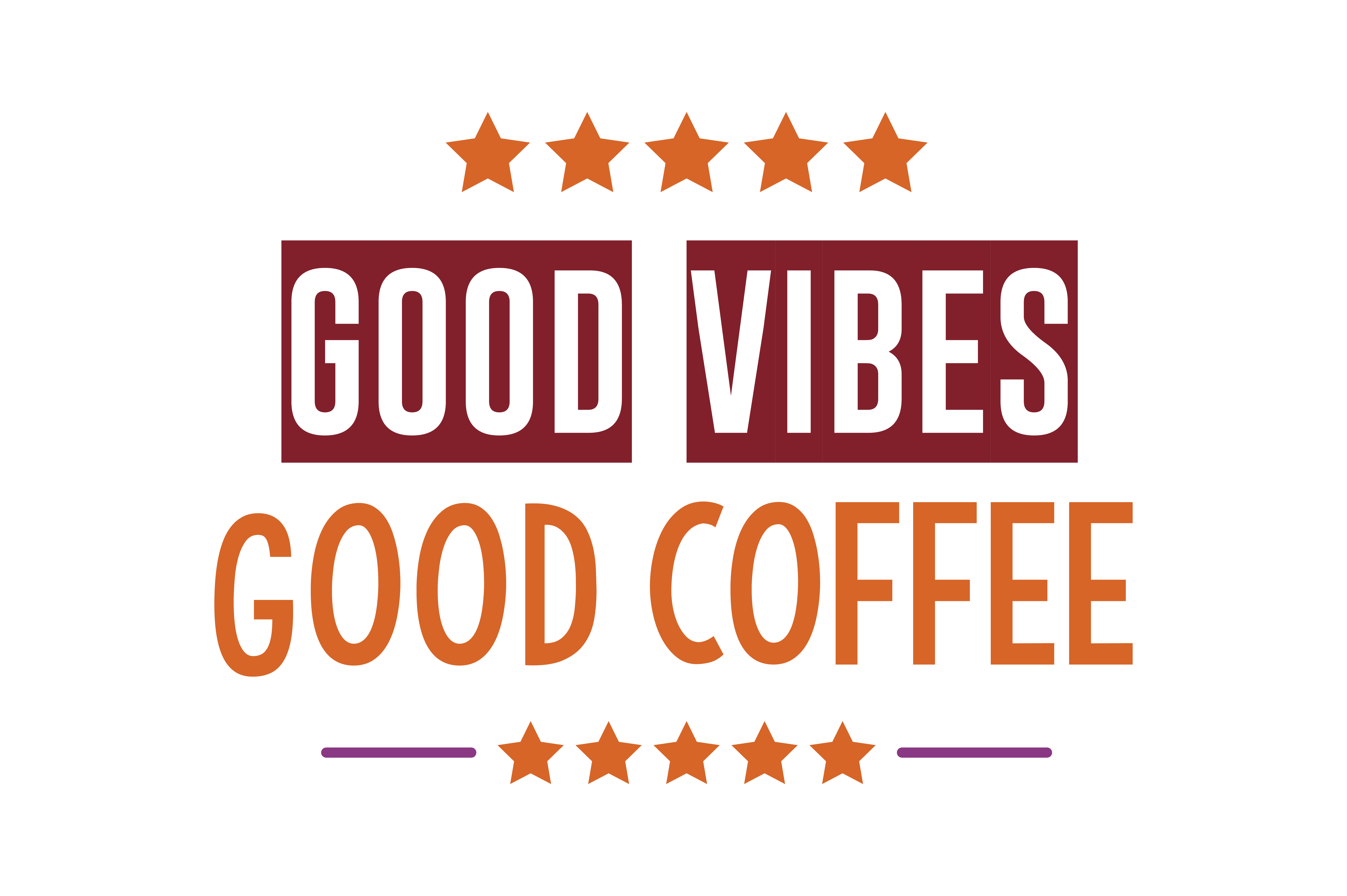 Download Free Good Vibes Good Coffee Quote Svg Cut Graphic By Thelucky for Cricut Explore, Silhouette and other cutting machines.
