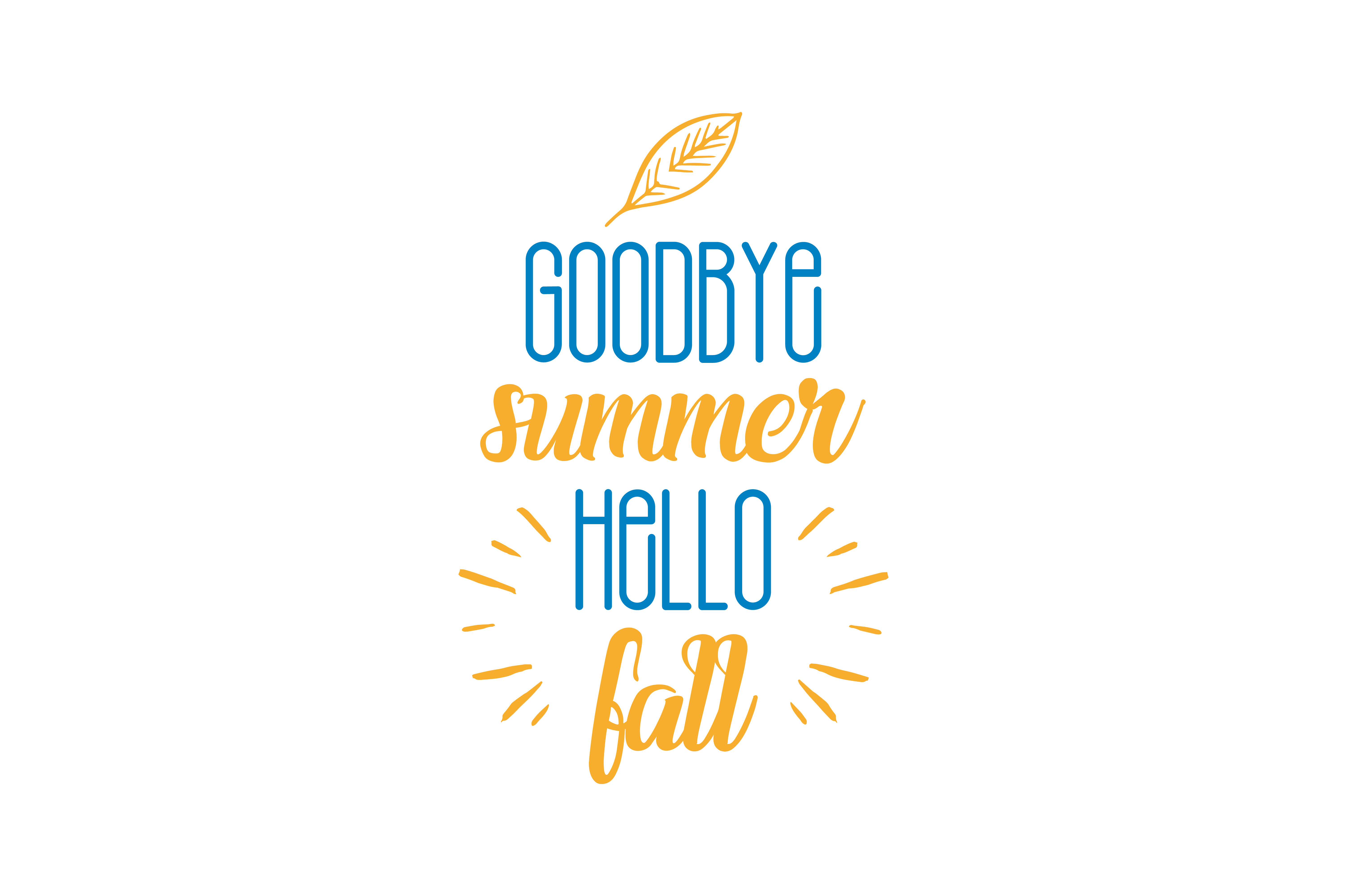 Download Free Goodbye Summer Hello Fall Quote Svg Cut Graphic By Thelucky for Cricut Explore, Silhouette and other cutting machines.