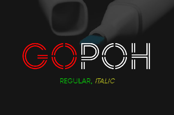 Print on Demand: Gopoh Display Font By da_only_aan