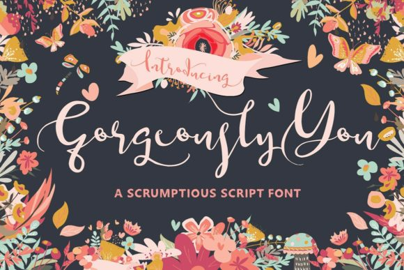 Gorgeously You Script & Handwritten Font By Creativeqube Design