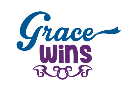 Print on Demand: Grace Wins Quote SVG Cut Graphic Crafts By TheLucky