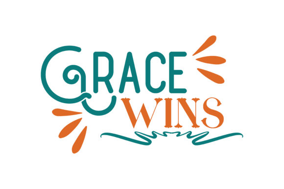 Download Free Grace Wins Quote Svg Cut Graphic By Thelucky Creative Fabrica for Cricut Explore, Silhouette and other cutting machines.