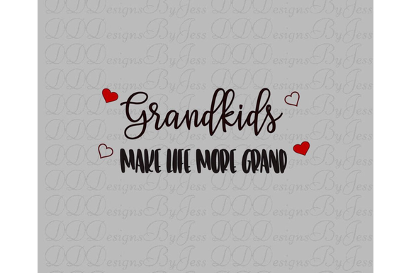 Download Free Grandkids Make Life More Grand Graphic By Dddesigns Creative for Cricut Explore, Silhouette and other cutting machines.