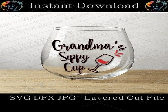 Print on Demand: Grandmas Sippy Cup SVG Graphic Crafts By dynamicdimensions