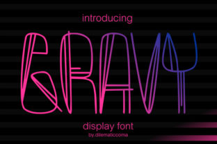 Gravy Font By dilematiccoma