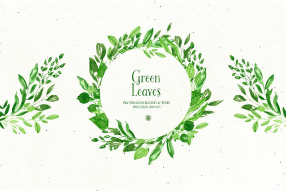 Green Leaves Graphic Illustrations By webvilla - Image 2