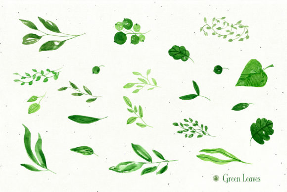 Green Leaves Graphic Illustrations By webvilla - Image 5