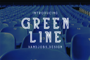 Green Line Font By Hdjs.design