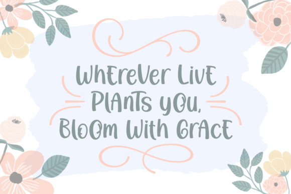 Print on Demand: Growing in Bloom Script & Handwritten Font By Rifki (7ntypes) - Image 2