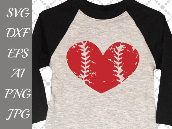 Download Free Grunge Baseball Heart Svg Graphic By Prettydesignstudio for Cricut Explore, Silhouette and other cutting machines.