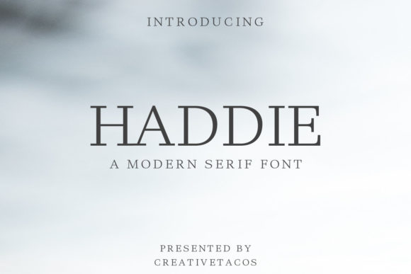 Print on Demand: Haddie Family Serif Font By Creative Tacos