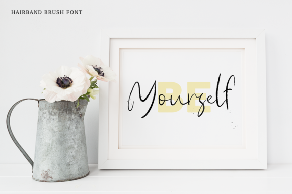 Print on Demand: Hairband Script & Handwritten Font By Pasha Larin - Image 4