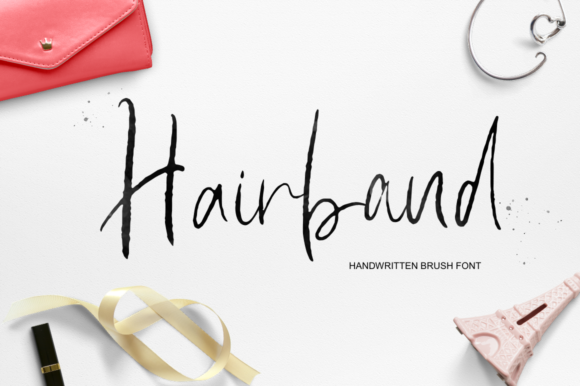 Print on Demand: Hairband Script & Handwritten Font By Pasha Larin - Image 1