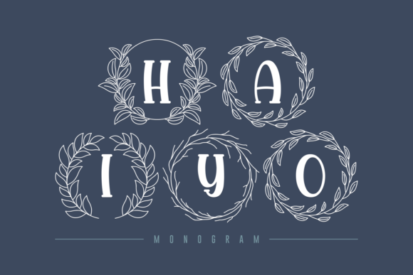 Print on Demand: Haiyo Display Font By Rifki (7ntypes) - Image 1