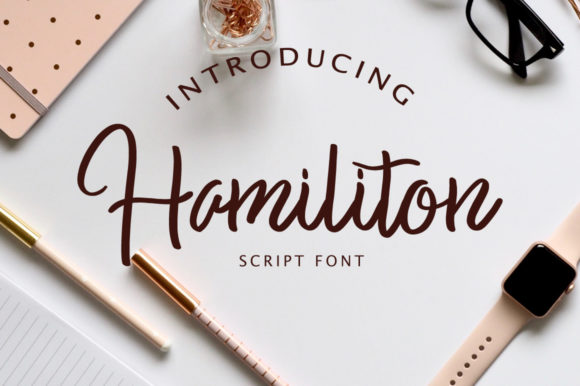 Print on Demand: Hamiliton Script & Handwritten Font By fontysia