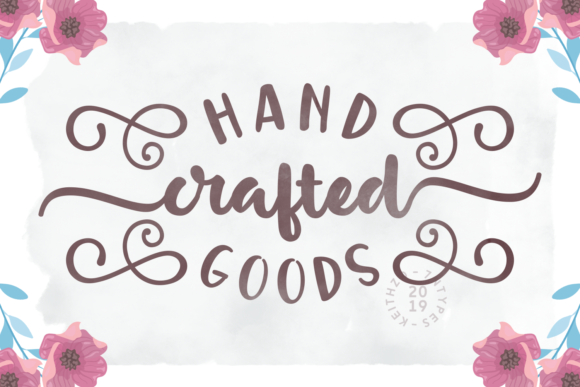 Print on Demand: Handcrafted Goods Script & Handwritten Font By Keithzo (7NTypes)