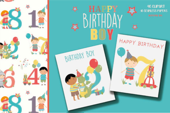 Download Free Happy Birthday Boy Graphic By Poppymoondesign Creative Fabrica for Cricut Explore, Silhouette and other cutting machines.