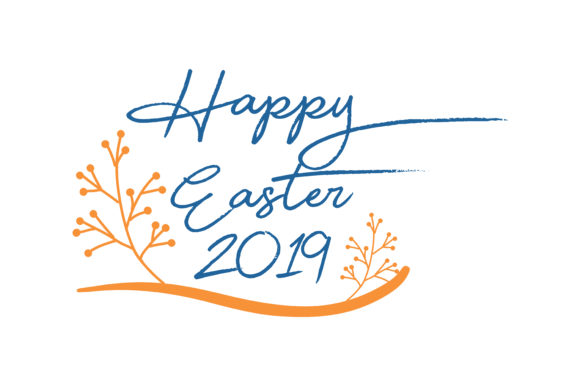 Print on Demand: Happy Easter 2019 Quote SVG Cut Graphic Crafts By TheLucky