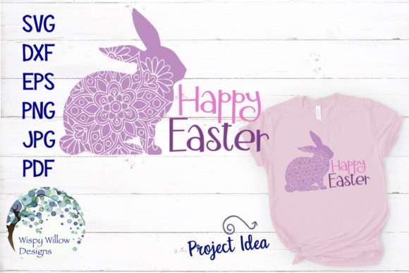 Download Free Happy Easter Mandala Zentangle Rabbit Svg Graphic By for Cricut Explore, Silhouette and other cutting machines.