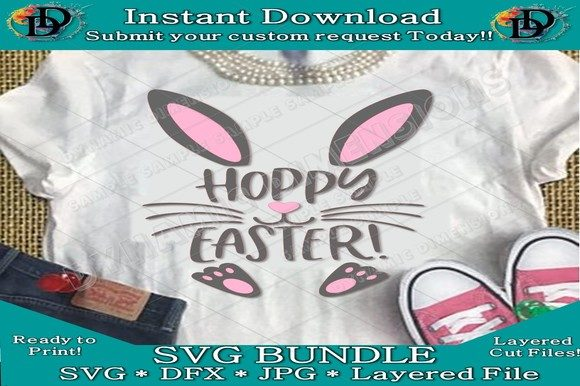 Print on Demand: Happy Easter SVG Hoppy Easter SVG Graphic Crafts By dynamicdimensions