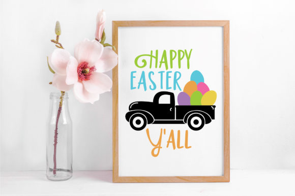 Download Free Happy Easter Y All Svg Graphic By Oldmarketdesigns Creative for Cricut Explore, Silhouette and other cutting machines.