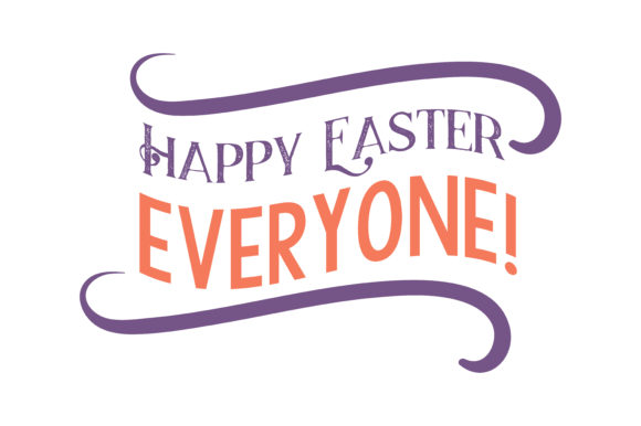 Download Free Happy Easter Everyone Quote Svg Cut Graphic By Thelucky for Cricut Explore, Silhouette and other cutting machines.