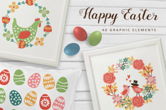 Happy Easter Set Graphic Illustrations By Tabita's shop