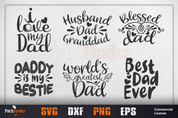 Download Free Happy Fathers Day Bundle Graphic By Pathfinder Creative Fabrica for Cricut Explore, Silhouette and other cutting machines.
