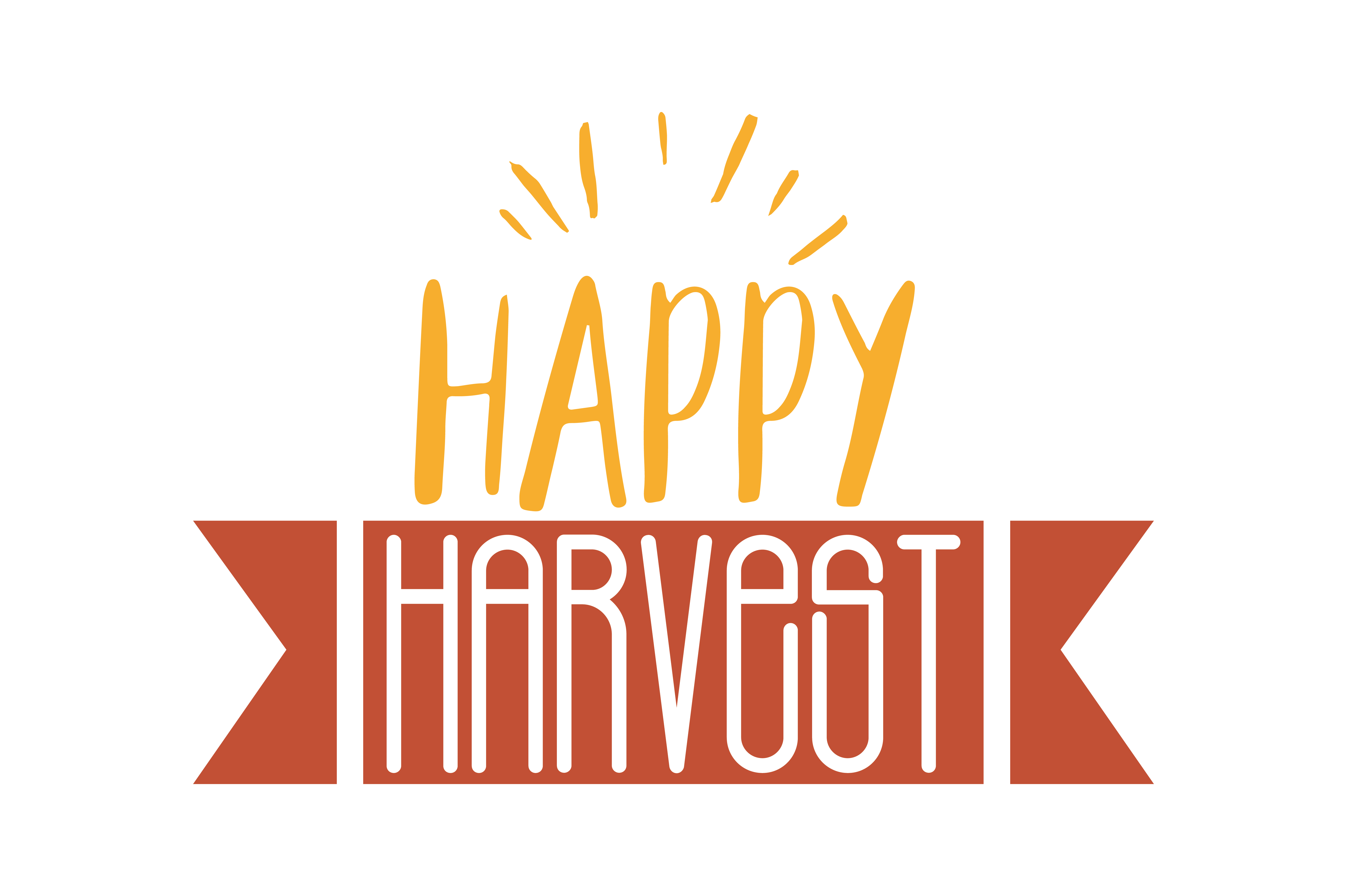 Download Free Happy Harvest Quote Svg Cut Graphic By Thelucky Creative Fabrica for Cricut Explore, Silhouette and other cutting machines.