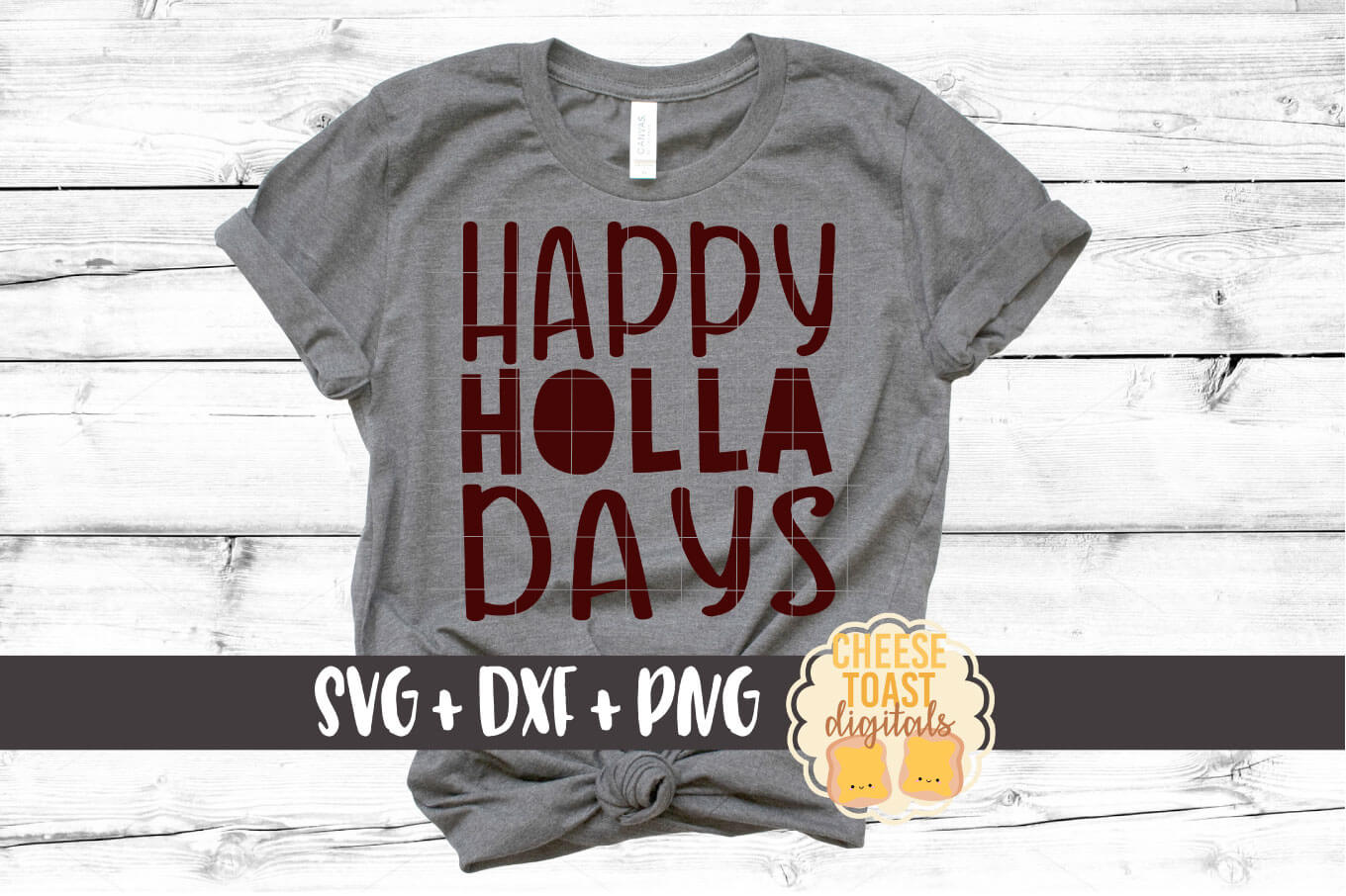 Download Free Happy Holla Days Christmas Svg Graphic By Cheesetoastdigitals for Cricut Explore, Silhouette and other cutting machines.