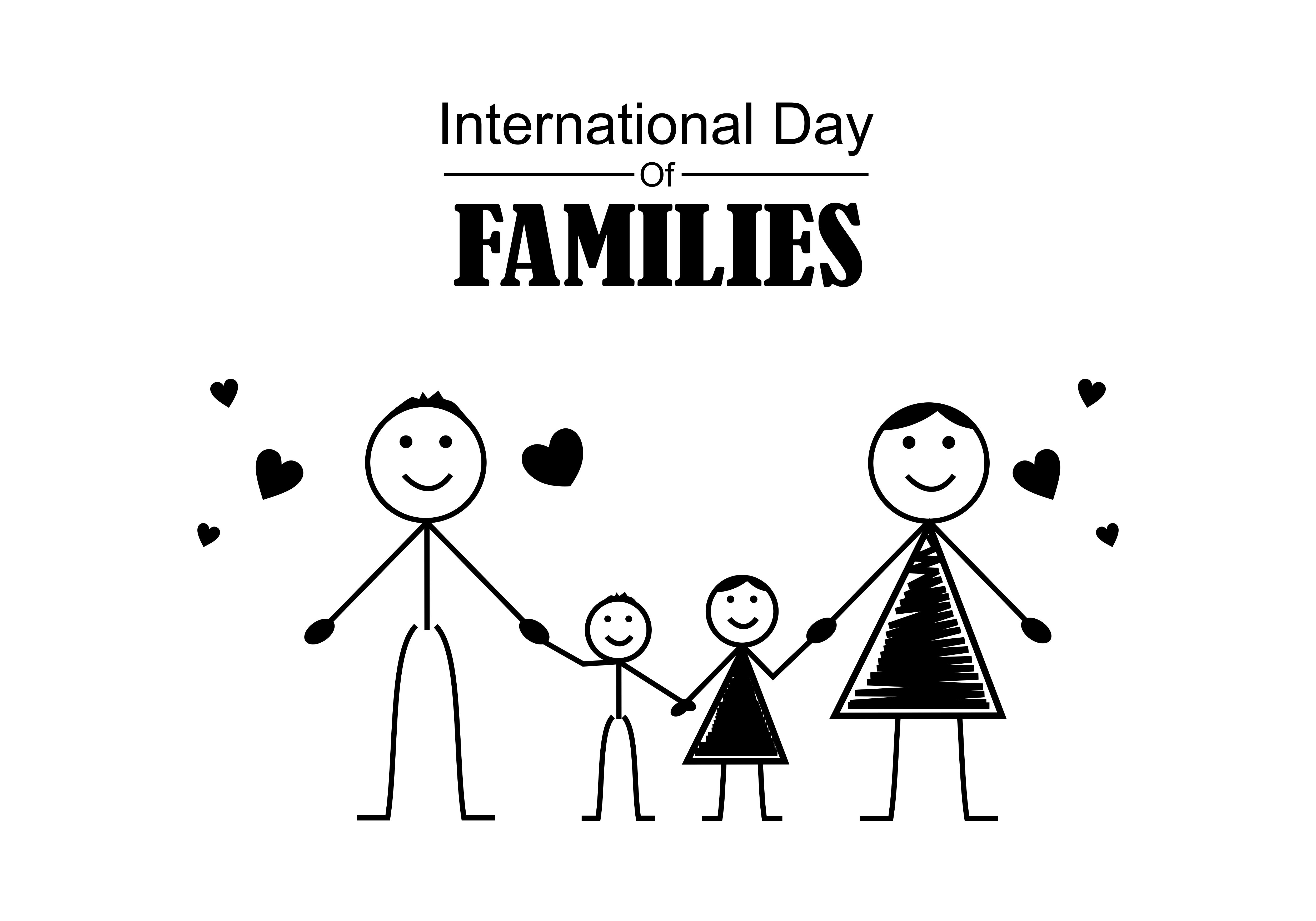 Download Free Happy International Family Day Logo Graphic By Deemka Studio for Cricut Explore, Silhouette and other cutting machines.