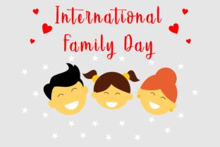 Download Free Happy International Family Day Logo Vector Graphic By Deemka for Cricut Explore, Silhouette and other cutting machines.