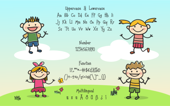 Happy Kids Font By LetterBeary Image 5