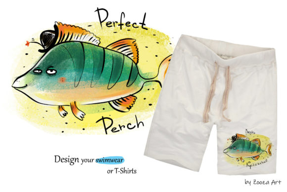 Print on Demand: Happy River Fish 9 Illustrations Graphic Illustrations By Zooza Art - Image 5