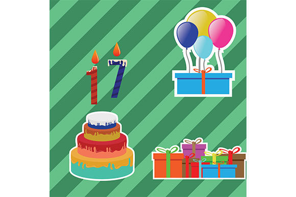 Download Free Happy Birthday Vector Invitation Graphic By Rohmar Creative for Cricut Explore, Silhouette and other cutting machines.
